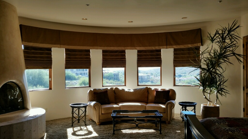 5-Pleated Brown Curtains